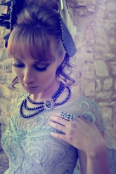 The Castle - London Topaz Wings, Double Cameo Skull Black Pearl Necklace & The Sierra Ring