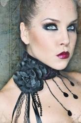 Cemetery Flowers - Natalie Flower Corset Choker