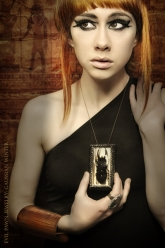 Gaussian Winter - Ahmose Moon Born Necklace and Mirror-Mirror Ring