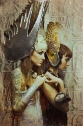 Gaussian Winter - Wings Of Horus, Wings Of Osiris, Solar Disc Nicodemus Necklace, Stormborn Cuff, Mirror-Mirror Ring and Dregon Ring