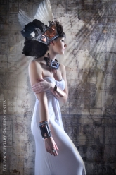 Gaussian Winter - Neith Solar Disk Collar, Neith Cuff, Wings Of Neith and Dregon Ring