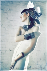 Gaussian Winter - Neith Solar Disk Collar, Neith Cuff and Wings Of Neith