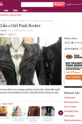 eHow Style - How to Dress Like a Girl Punk Rocker - Evil Pawn Jewelry - Cherub Necklace