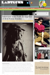 Ladygunn Magazine - Faith Evangeline - Evil Pawn Jewelry - Interview online