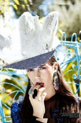 Bello Magazine Issue 40 - Evil Pawn Jewelry - Global Ring and Custom Headpiece