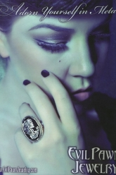Bust Magazine Ad Oct 2010 - Evil Pawn Jewelry - Cameo Skull Ring