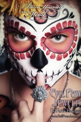 Bust Magazine Oct/Nov 2011 - Evil Pawn Jewelry - Sugar Skull Ring and Gilda Earrings