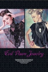 Fiori Magazine Nov/Dec 2010 Issue - Evil Pawn Jewelry - Rose Garden Bib and Grace Lynn Bib