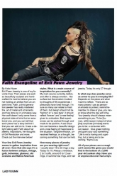 Ladygunn Magazine - Faith Evangeline - Evil Pawn Jewelry - Interview