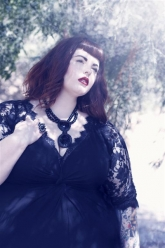 Skorch Magazine - Tess Munster - Evil Pawn Jewelry - Caroline Necklace and Hope Ring - 2
