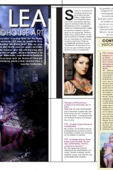 Tatuajes Magazine - Ama Lea Grindhouse Art - Evil Pawn Jewelry - Caroline Necklace and Demonia Necklace