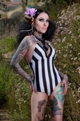 Tatuajes Magazine - Ama Lea Grindhouse Art - Evil Pawn Jewelry - Caroline Necklace