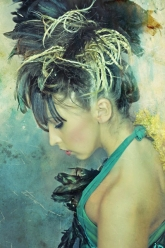 Tribal - Black Feather Head Piece