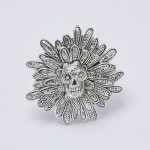 Sugar Skull Flower Ring - Image 1