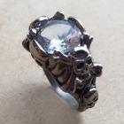 Crystal Skull Ring In Quartz