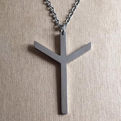 Algiz Rune Necklace Evil Pawn Jewelry