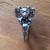 Freyja Crystal Cat Ring in Obsidian