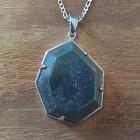 Veda Necklace In Bloodstone