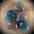 Bloodstone Crystal Skull Pocket Stone
