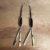 Tiamat Earrings in Onyx