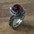 Ninmah Ring in Garnet